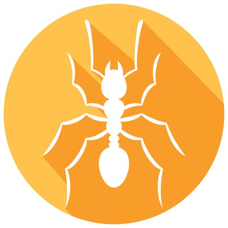 infestation: ant silhouette flat icon