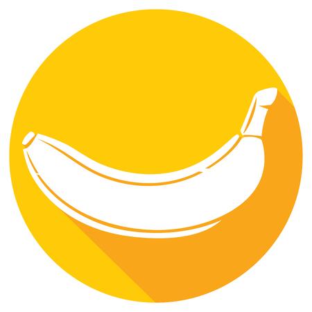 primate biology: banana fruit flat icon Illustration