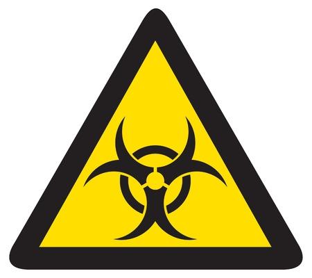 hazardous waste: biohazard sign Illustration