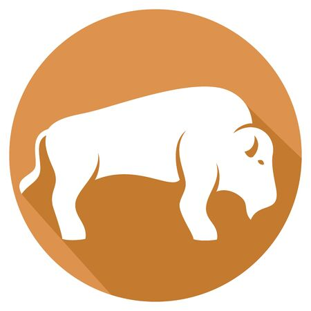 indian buffalo: bison flat icon
