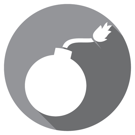 old bomb flat icon