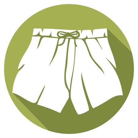 underclothing: boxer shorts flat icon