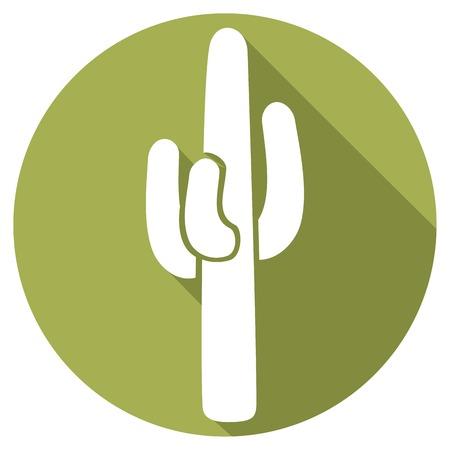 arid: cactus flat icon
