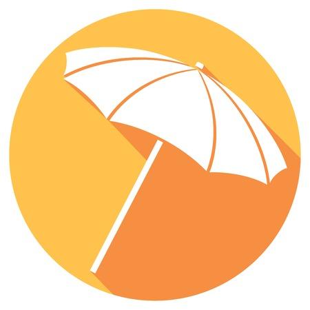 recline: illustration of colorful beach umbrella