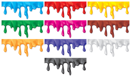 paint dripping: colorful paint flowing down (color paint dripping, drips of paint)