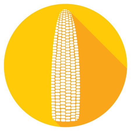 elote caricatura: maíz icono plana