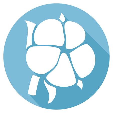 cotton: cotton flat icon Illustration