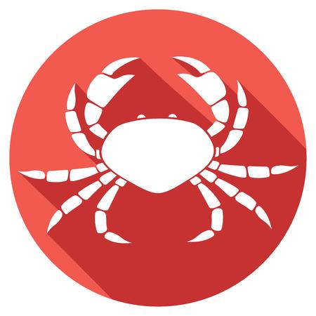 pinching: crab flat icon Illustration