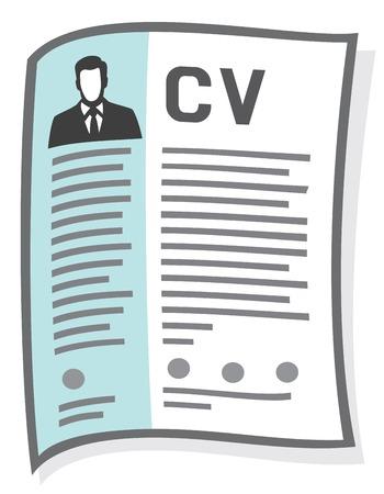 reanudar y el icono de CV (curriculum vitae icono)