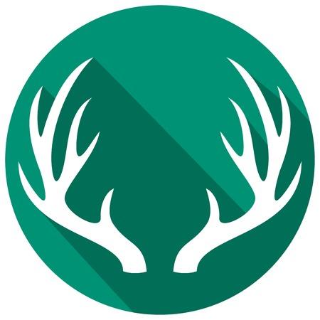 horns: deer horns flat icon
