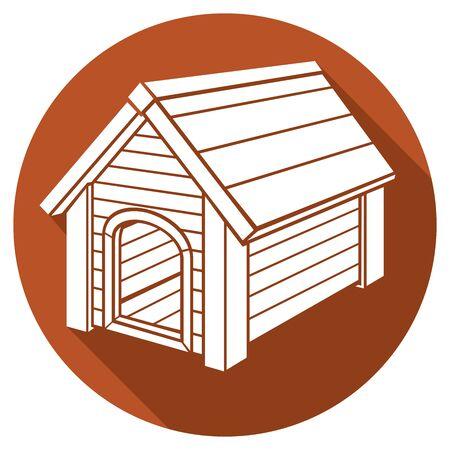 nibble: dog house flat icon Illustration