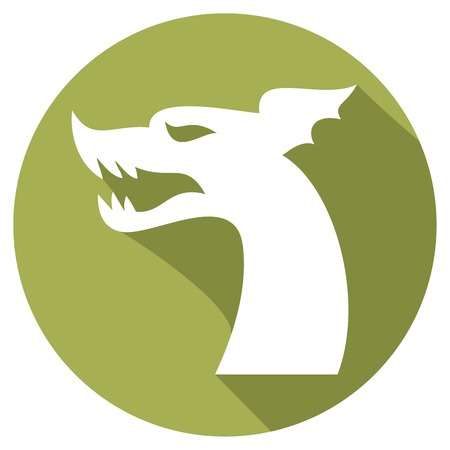 dragon head: dragon head flat icon
