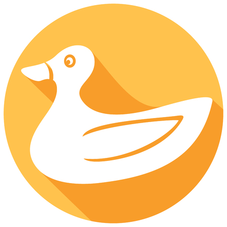 squeak: duck cartoon flat icon (rubber duck)