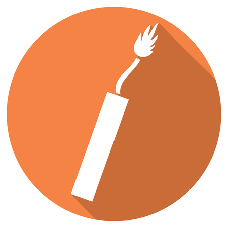 bomb threat: dynamite flat icon