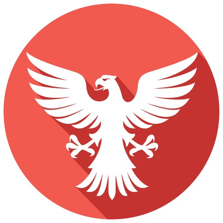 swooping: flying eagle flat icon (eagle mascot)