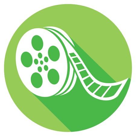 film reel flat icon (film strip)