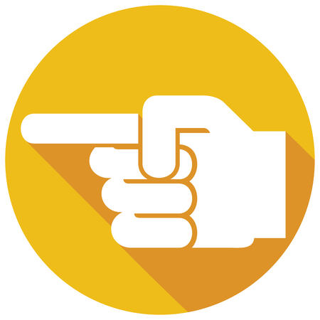 finger pointing flat icon (hand with pointing finger)