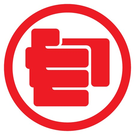 pointing hand: finger pointing symbol flat icon (hand with pointing finger sign, finger point icon)