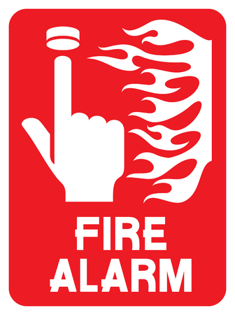 fire safety sign (fire alarm call point) Ilustração