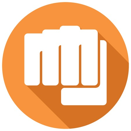 militant: fist symbol flat icon (human hand punching sign)