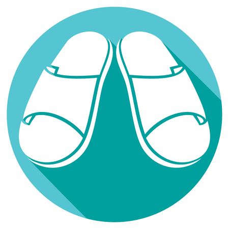 slippers: slippers flat icon
