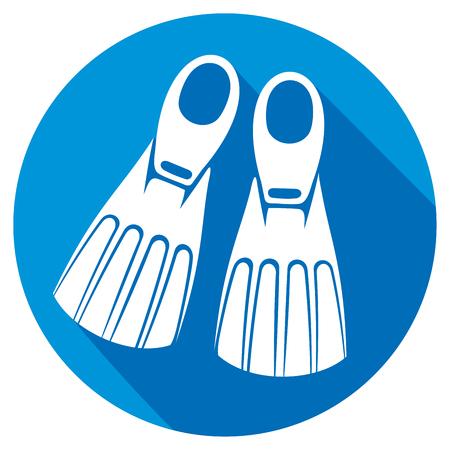 flippers: aletas icono plana