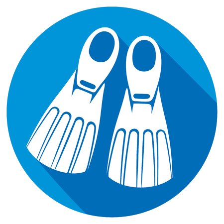 pool player: flippers flat icon