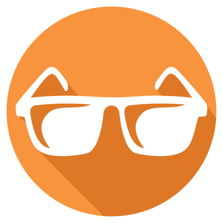 sale sign: sunglasses flat icon