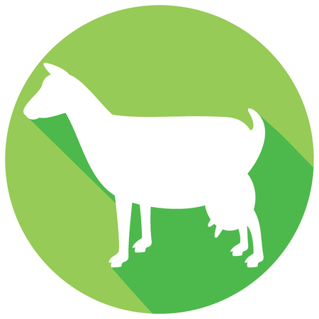 goat cheese: goat symbol flat icon (goat icon)