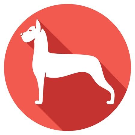 great dane: great dane dog flat icon