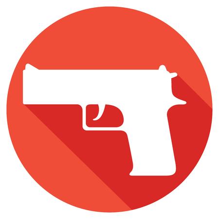 arsenal: gun flat icon (pistol vector, handgun) Illustration