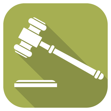 auctioneer: gavel flat icon - hammer of judge or auctioneer (judge gavel sign)
