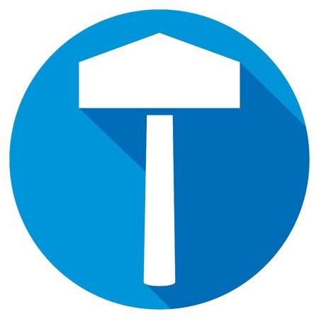 thor's: hammer of thor flat icon (thors hammer symbol)