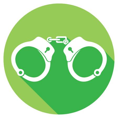 constraint: police handcuffs flat icon Illustration