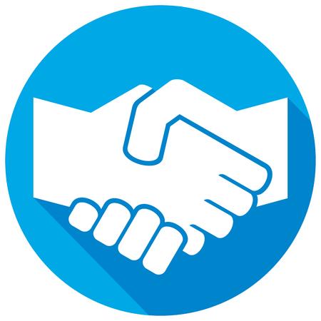 symbole de poignée de main icône plate (signe poignée de main)