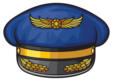 pilots: airline pilots hat (pilots hat, aviator cap with gold insignia)