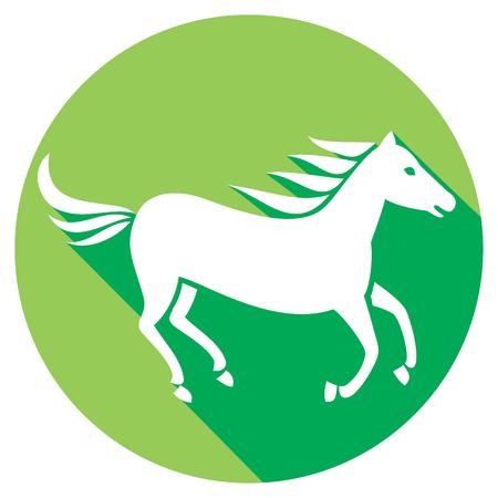 forelock: running horse flat icon
