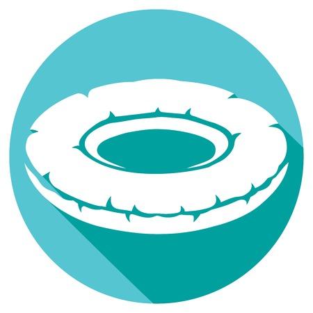 summer tires: inflatable inner tube flat icon (floater, swimming tire, floating tire, inflatable round pool tube)