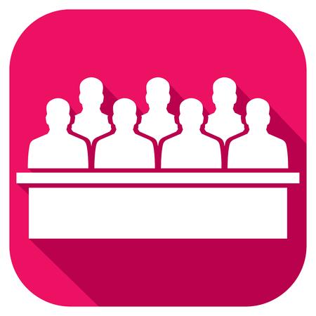 jurado: el jurado en el icono de corte plana