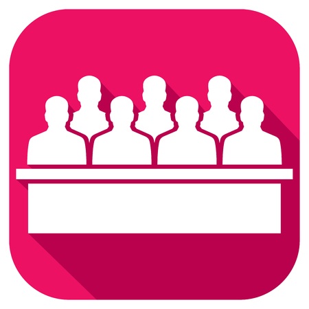 jurors: the jury in the court flat icon Illustration