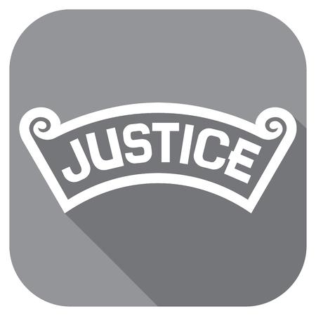 Gerechtigkeit Konzept flach Symbol