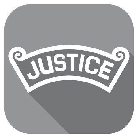justice: justice concept flat icon