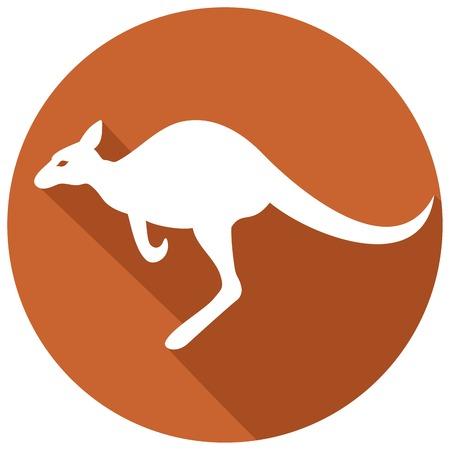 queensland: kangaroo flat icon