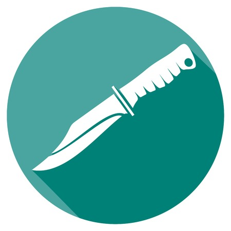 dirk: military knife flat icon