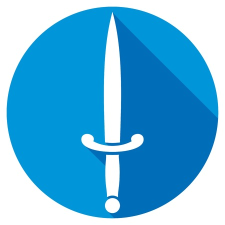 longsword: ancient weapon - sword flat icon Illustration