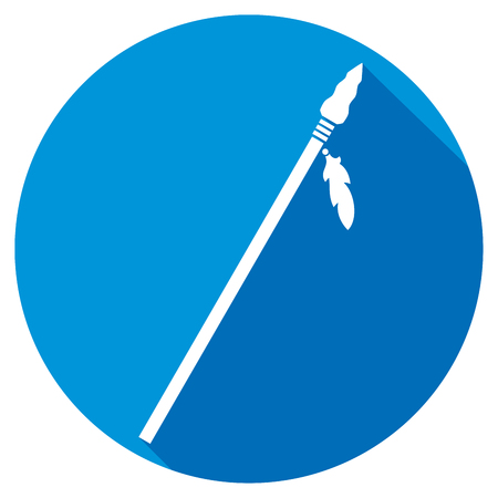 native american spear flat icon