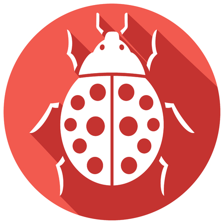 bugs: ladybug flat icon (lady bug) Illustration