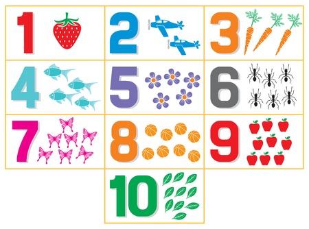 leren nummers voor kinderen (tellen spel voor de kleuterschool kinderen)