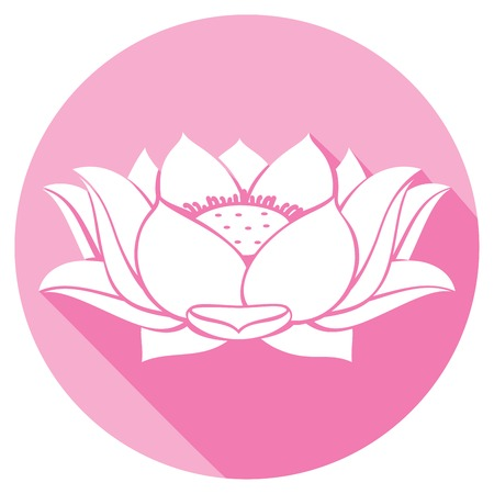 stamens: lotus flower flat icon Illustration