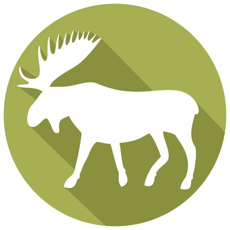 scandinavia: moose flat icon Illustration
